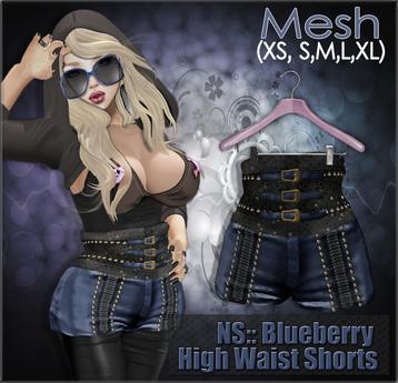 NS:: Blueberry High Waist Shorts