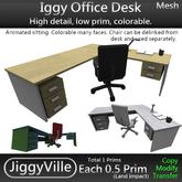 Iggy Office Desk - Full Perm 1 Prim