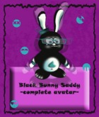 ":K.A.::[Easter Col.]Black Bunny ""Saddy"""