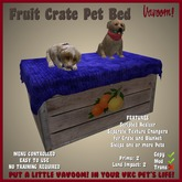 Fruit Crate Pet Bed by Vavoom! - Supplies for Virtual Kennel Club (VKC®) Pets - No Training Required - Dog Bed - Cat Bed