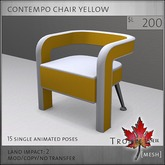 Trompe Loeil - Contempo Chair Yellow [mesh]