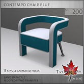 Trompe Loeil - Contempo Chair Blue [mesh]