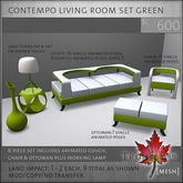 Trompe Loeil - Contempo Living Room Set Green [mesh]