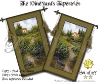 The Vineyards Tapestries - SET OF TWO!