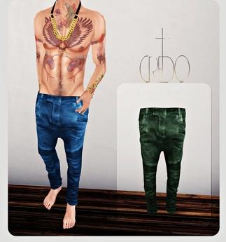 CREDO - 'Biker Jeans' Olive