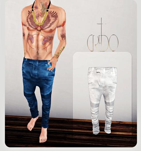 CREDO - 'Biker Jeans' White