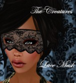 *The Creatures* Lace Mask Black