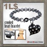 edge grafica / 23 crooked heart-bracelet