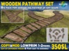 Wooden pathway SET with lots of different walkway shapes and easy to assemble MOD COPY mesh bridge footpath