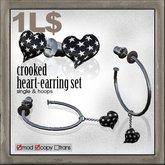 edge grafica / 24 crooked heart-earring set