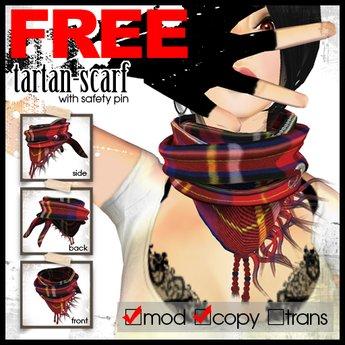 edge grafica / 28 tartan-scarf (red)