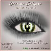 Eclipse Eyes - Citrine - Prim & Standard Eyes included