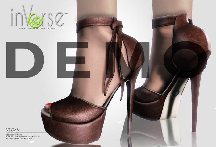 inVerse™ - Vegas Heels 100%mesh NO RIG 5 colors DEMO 1.1