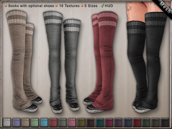 DN Mesh: Socks & Shoes:w HUD