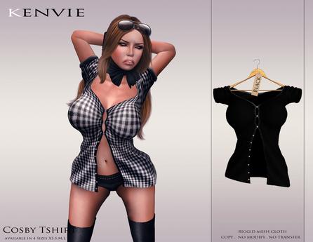 KENVIE . mesh Cosby Shirt Black