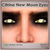 Citrine Yellow New Moon Eyes