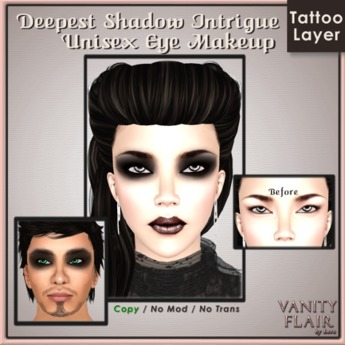 Deepest Shadow Intrigue Eye Makeup - Unisex Eyeshadow 2.0 Tattoo Layer