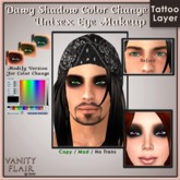 Dawg Shadow Eye Makeup w Color Change - Unisex Modifiable Makeup Tattoo Layer