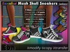 Mesh skull sneakers poster