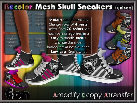 Recolor Mesh Skull Sneakers (female) ..:: EON ::..