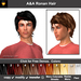 A&A Ronan Hair 11 Colors Value Pack.  Mid-length mens hairstyle with menu colorable show/hide streaks