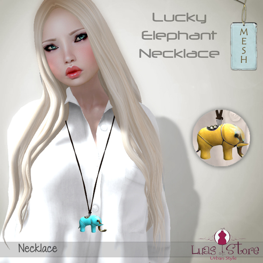 Luas Urban Style - Lucky Elephant Necklace Yellow