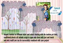 kid's/baby elegance valance desing curtain /drapes country