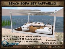 Sofa Set Raffaello white Awning open/close beach Terrace