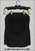 { ViVi } Knit Checker Hoodie - Black - 100% MESH