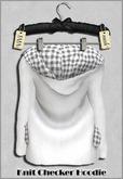 { ViVi } Knit Checker Hoodie - White - 100% MESH