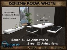Dining Room Set Nr.20 white Stool & Table