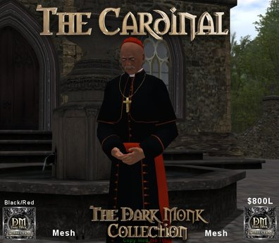 The Dark Monk Mesh Cardinal Outfit (Black/Red)