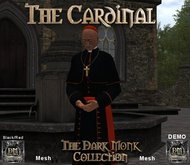 The Dark Monk Mesh Cardinal Outfit (Black/Red) DEMO