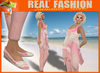 """REAL FASHION""  Loose tank top, leggings and espadrilles set ROSE - Mesh"