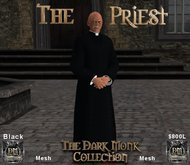 The Dark Monk Mesh Priest Outfit (Black)