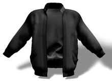 Mens Mesh Leather Jacket Black