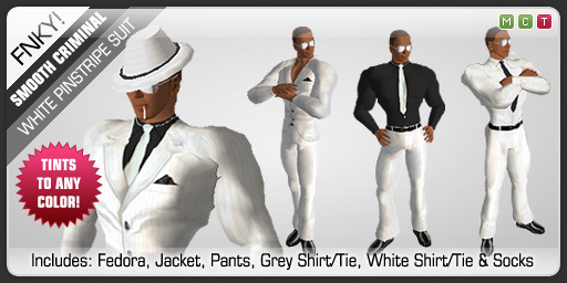 FNKY! Smooth Criminal Suit (White)