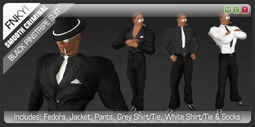 FNKY! Smooth Criminal Suit (Black)
