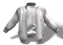 Mens Mesh Leather Jacket White
