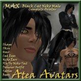 Max Black Cat Neko Male Avatar
