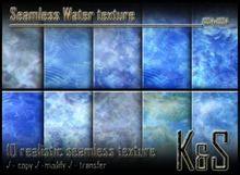 <K&S> Seamless Water texture (10 different textures) Full Perm
