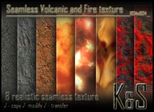 <K&S> Volcanic and Fire texture (8 different textures) Full Perm