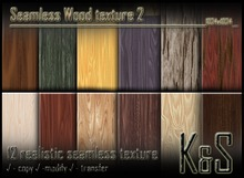 <K&S> Seamless Wood texture (12 different textures) Full Perm.