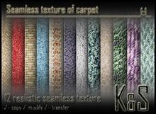 <K&S> Seamless texture of carpet (12 realistic textures) Full Perm