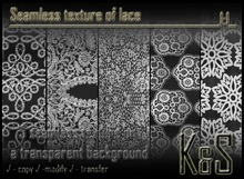 <K&S> <K&S> Seamless texture of lace (5 different textures) Full Perm