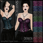 :::Sn@tch Mesh Selena Corsets-All Colors (Small):::