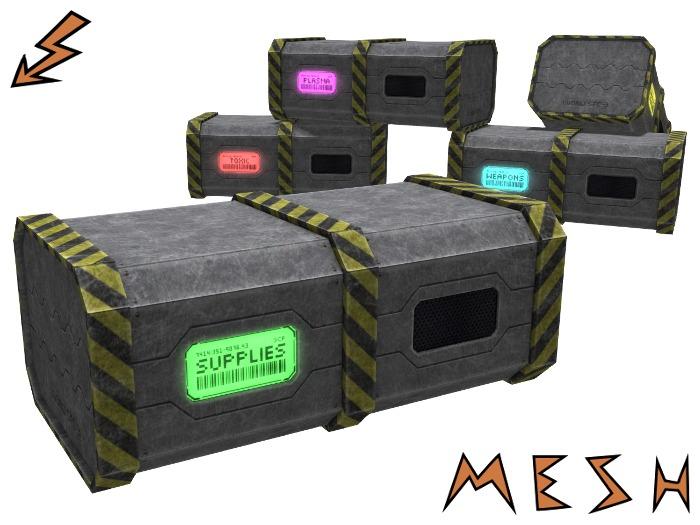 Mesh Sci-Fi Crate - 10 display options