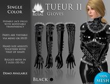 [ROSAL] TUEUR2 Gloves - Black (Mesh)