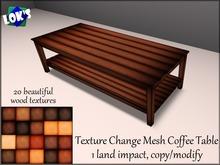 Lok's 1 Prim Wooden Coffee Table - 20 textures