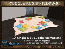 Carpet to cuddle and relax with Friends - color - Rug & Pillows - Living Room -